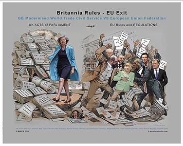 Britannia Rules Political Cartoon